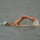 vereinzelte Schwimmer auch ohne Neo