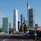 Gleich zu Beginn auf dem Rad: Die Skyline von Frankfurt