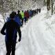 RUN4HAITI, im Gänsemarsch durch den tief verschneiten Winterwald (Alle Fotos: Lajos Speck, Klaus Rees, Detlef Kley)