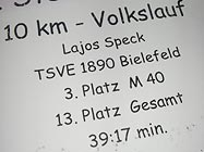 Sternchenlauf Sende, 10km, 39:17